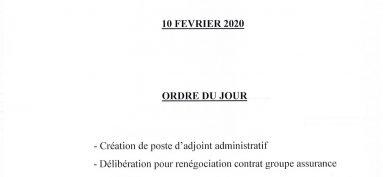 Conseil municipal 10 Février 2020